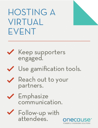 Hosting a virtual fundraising event requires keeping donors fully engaged.
