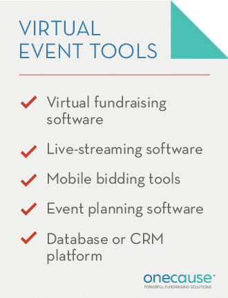 These are the essential components of a virtual fundraiser toolkit.