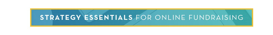 Strategy Essentials for Online Fundraising