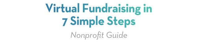 Virtual Fundraising in 7 simple steps