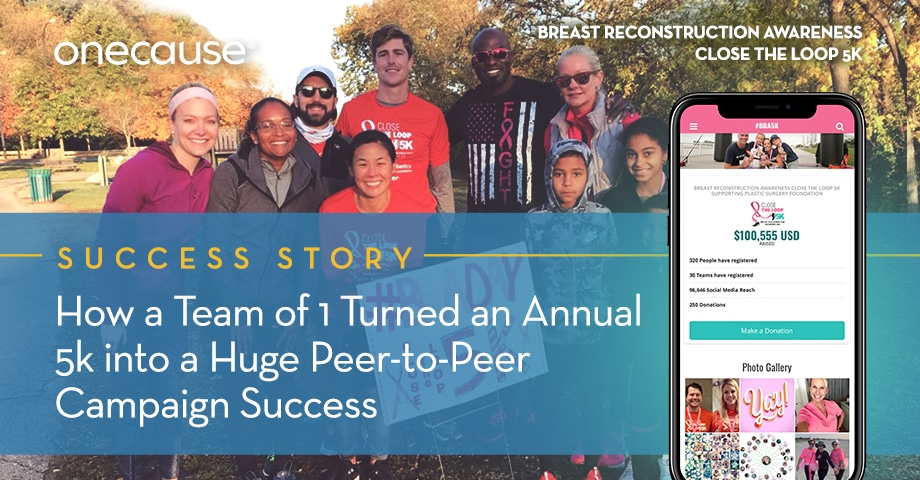 How a Team of 1 Turned an Annual 5k into a Huge Peer-to-Peer Campaign Success