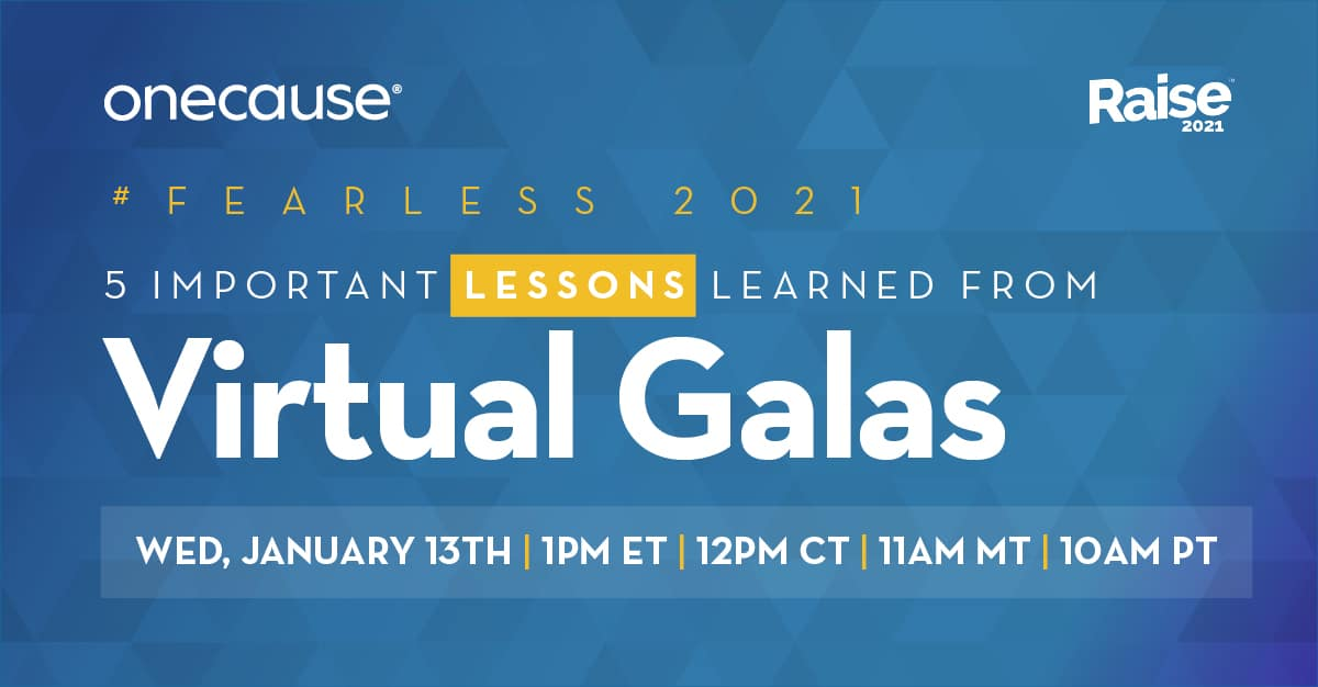 5 Lessons Learned from Virtual Galas