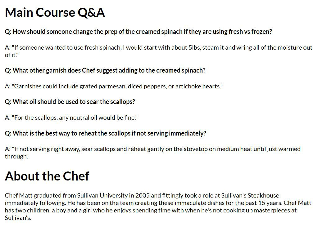 About The Chef