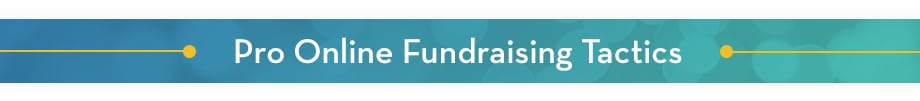Use these pro tactics to take your online fundraising ideas to the next level.