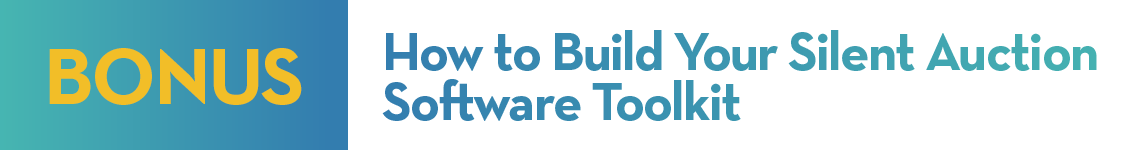 How to build your silent auction software toolkit