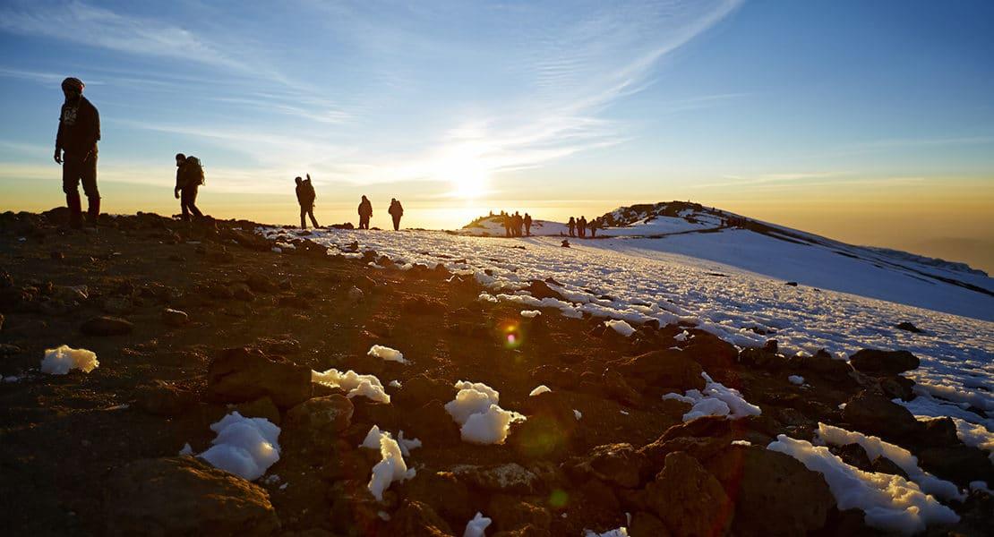 Mt Kilimanjaro route to the summit