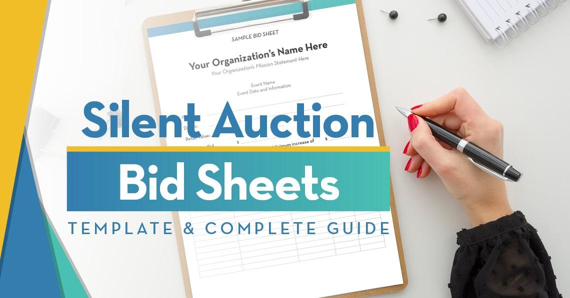 Silent Auction Bid Sheets