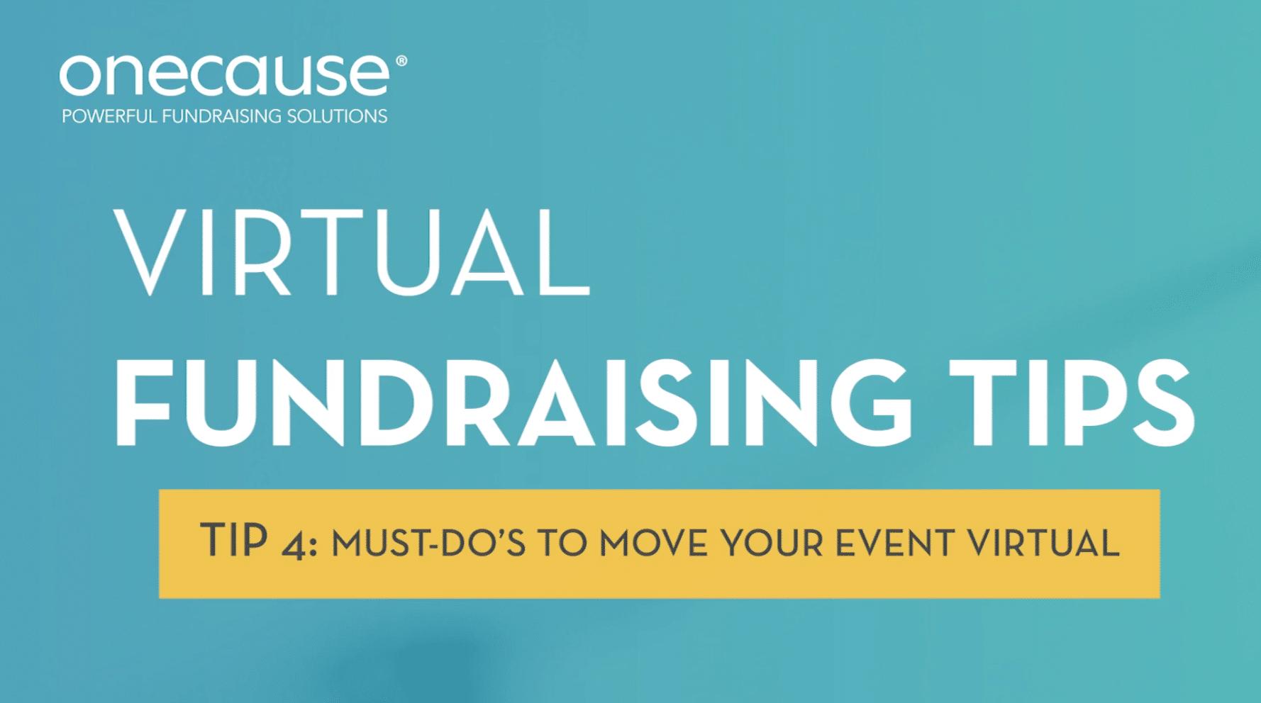 Virtual Fundraising Tip 4 Video