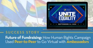 The Human Rights Campaign saw success with peer-to-peer ambassador fundraising techniques.